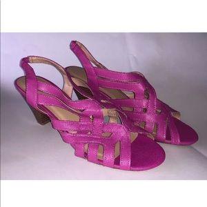 Women's Pink Sandal Heels - Size 6